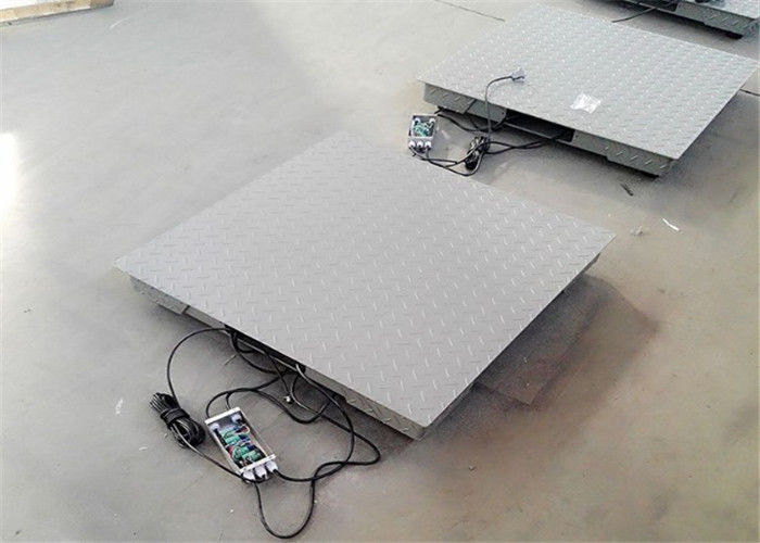 3 Ton Platform Weighing Scale Chequer Plate Design For Pit Type Installation